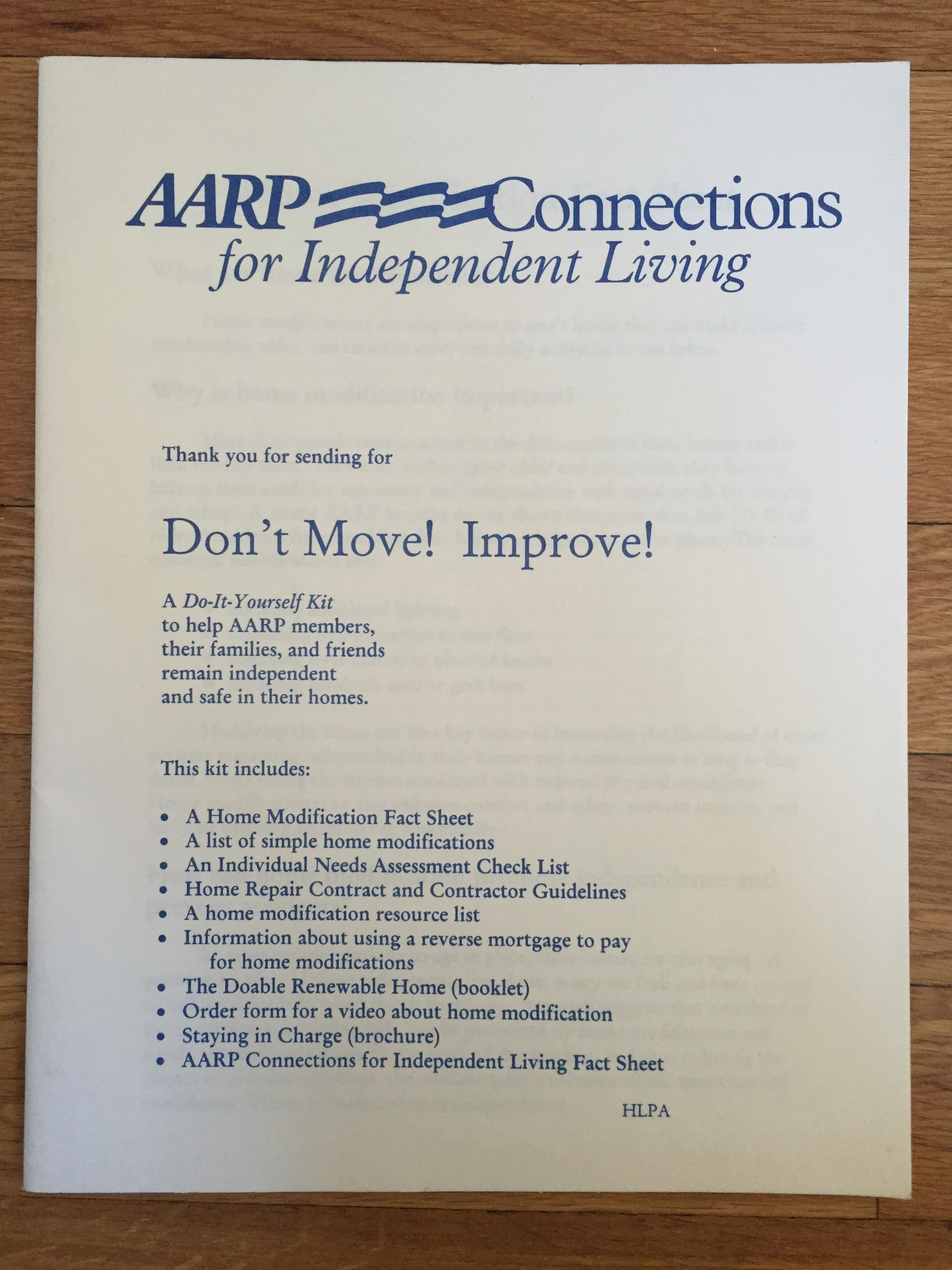aarp don;t move…improve!